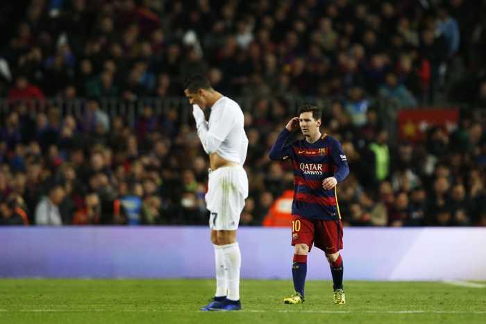 Bilde på Ronaldo og Messi.
